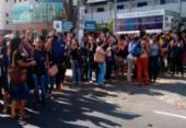 Funcionários de call center protestam na região da Central de Flagrantes | Foto: