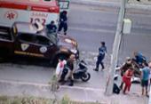 Duas pessoas ficam feridas após colisão entre motos no Ogunjá | Foto: Reprodução | TV Record