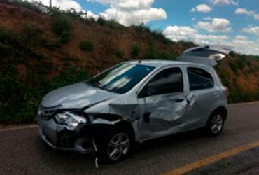 Ex-prefeito de Várzea do Poço sofre acidente na BA-417