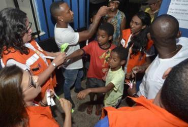 Moradores de Bom Juá simulam evacuação em caso de desastre natural