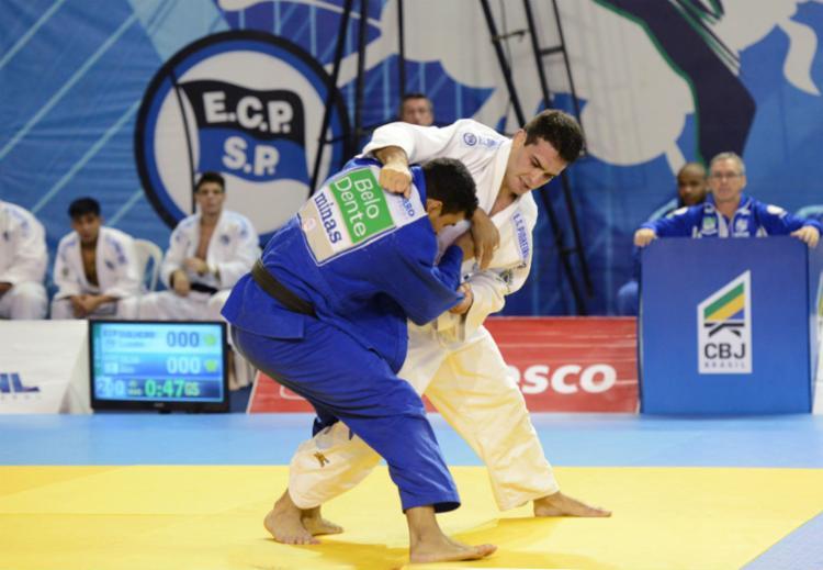 Judoca olímpico Leandro Guilheiro é um dos competidores - Foto: Paulo Pinto | Divulgação CBJ