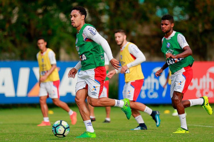 Em poucos jogos, Edigar Junio já se tornou a principal referência do setor ofensivo do Esquadrão de Aço - Foto: Marcelo Malaquias | EC Bahia