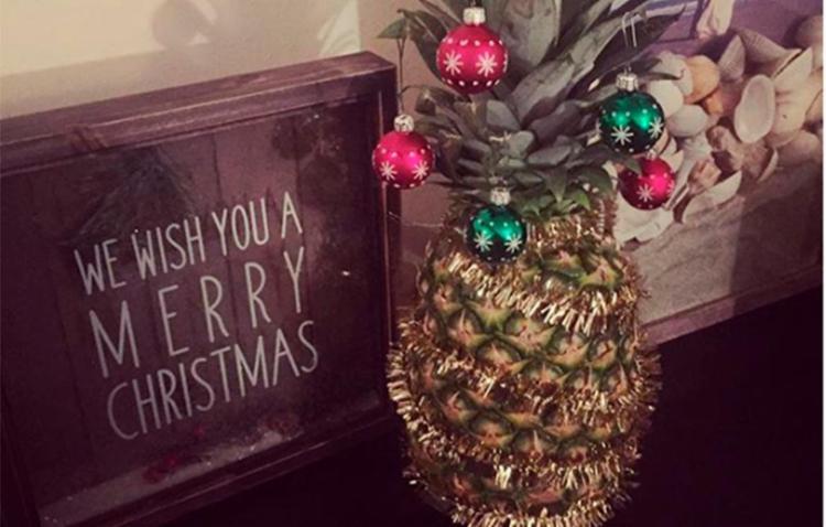 Abacaxis estão sendo decorados como árvore de Natal - Foto: Reprodução | Redes Sociais