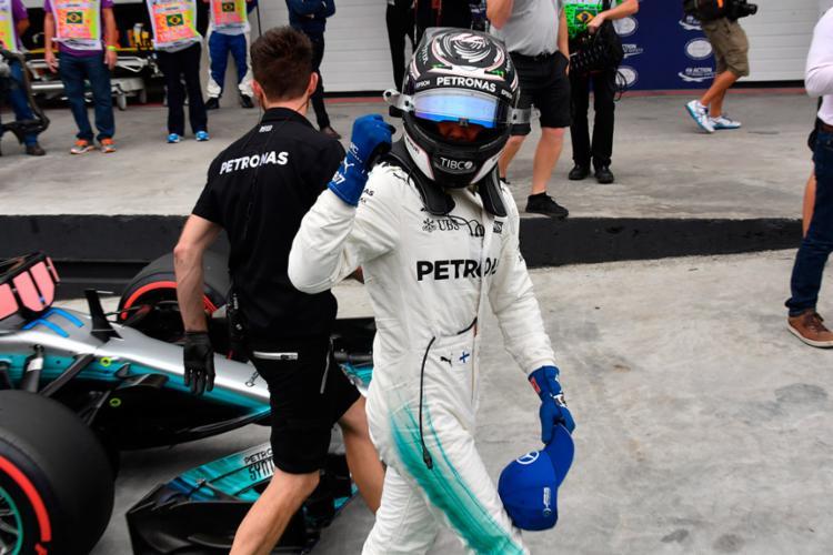 Finlandês bateu o alemão Vettel em disputa pessoal - Foto: Nelson Almeida | AFP