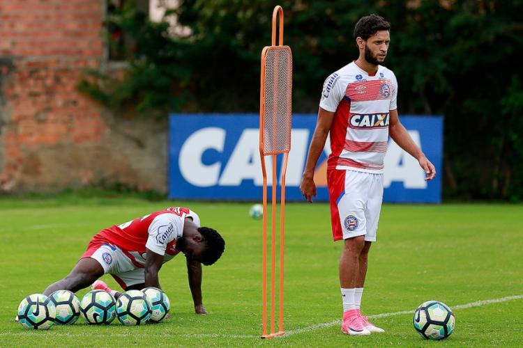 Lateral ficou fora das últimas duas partidas, mas Carpegiani garantiu sua presença contra a Ponte - Foto: Felipe Oliveira l EC Bahia