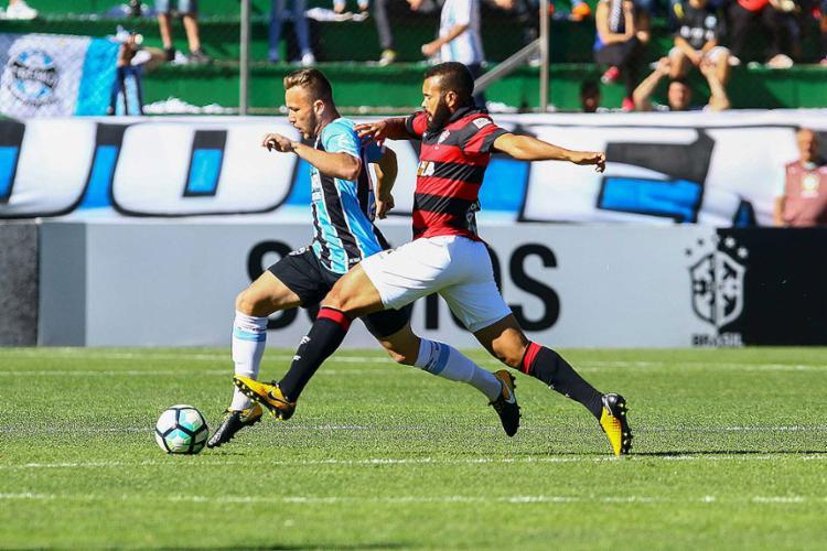 Em jogo brigado, Leão joga na raça e consegue ponto importantíssimo na briga contra a zona da degola - Foto: Rodrigo Rodrigues l Grêmio FBPA