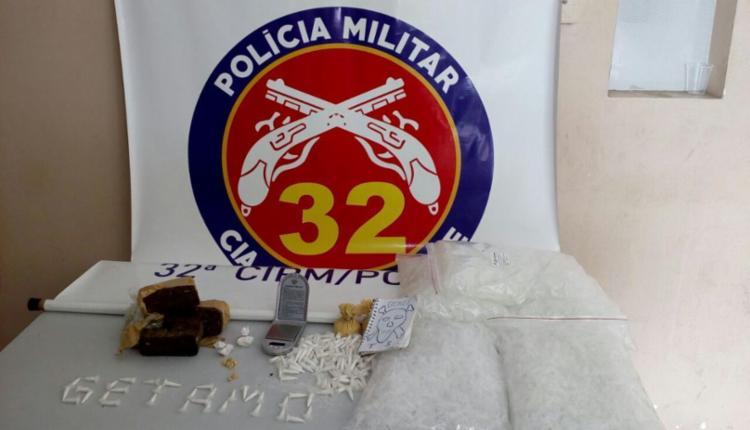 Material foi encontrado pela PM na casa do traficante - Foto: Divulgação   SSP