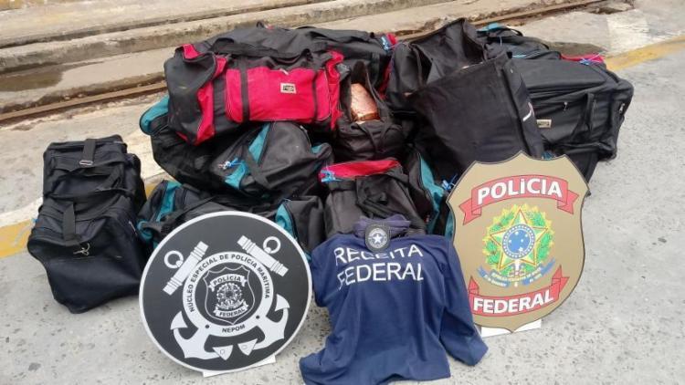 Droga estava distribuída em 19 bolsas que seriam enviadas para a Bélgica - Foto: Divulgação | Receita Federal