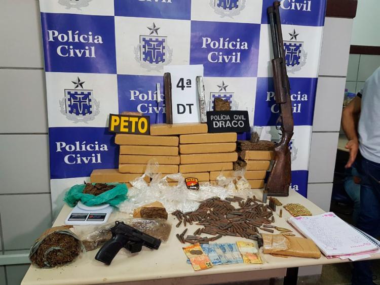 Material encontrado pela polícia no imóvel - Foto: Divulgação | Polícia Civil