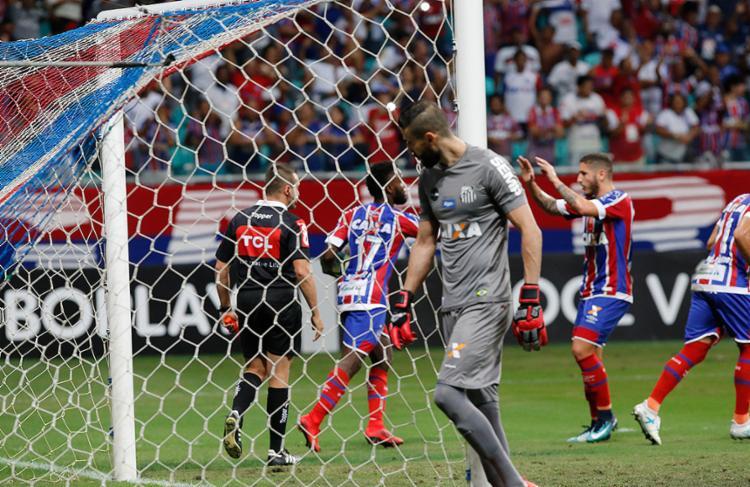 Tricolor saiu atrás do placar, mas buscou triunfo e ficou a apenas um ponto da Pré-Libertadores - Foto: Margarida Neide l Ag. A TARDE