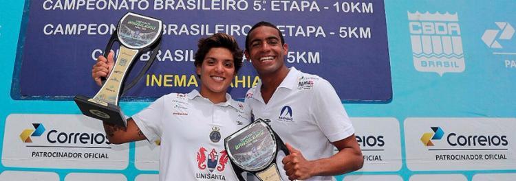 Ana Marcela e Allan do Carmo são os nomes mais fortes da maratona aquática no Brasil - Foto: Divulgação l CBDA