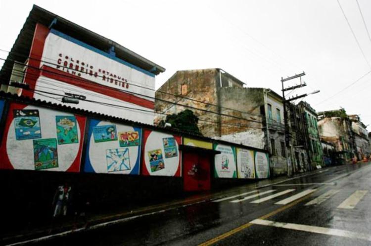 Escola Estadual foi interditada após desabamento de casarão na Lapinha - Foto: Mila Cordeiro | Ag. A TARDE