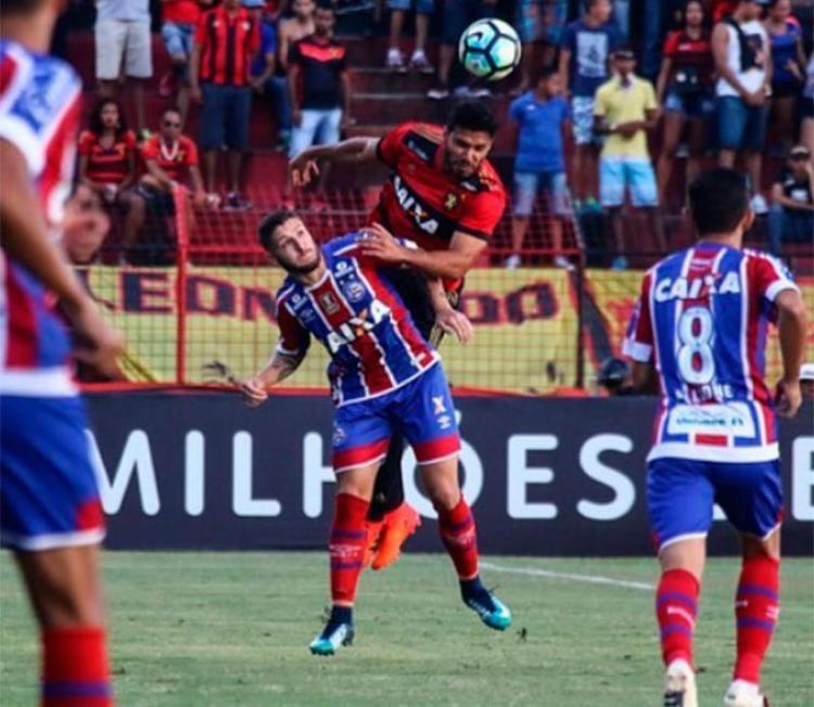 Tricolor não conseguiu superar a pressão do Sport e foi derrotado fora de casa - Foto: Divulgação | ECBahia