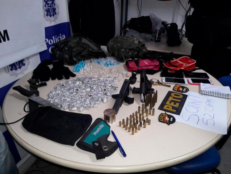 Materiais apreendidos pela polícia foram apresentado a delegacia de Portão - Foto: Divulgação | SSP