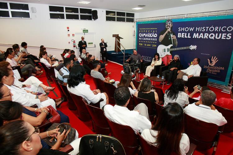Evento beneficente foi lançado no auditório do Hospital Aristides Maltez, localizado no bairro de Brotas - Foto: Luciano da Matta l Ag. A TARDE