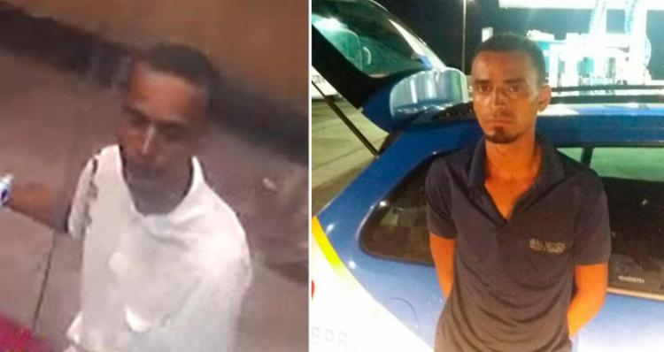 Jeferson foi flagrado pelas câmeras de segurança e preso em uma loja de motocicletas - Foto: Divulgação | PRE