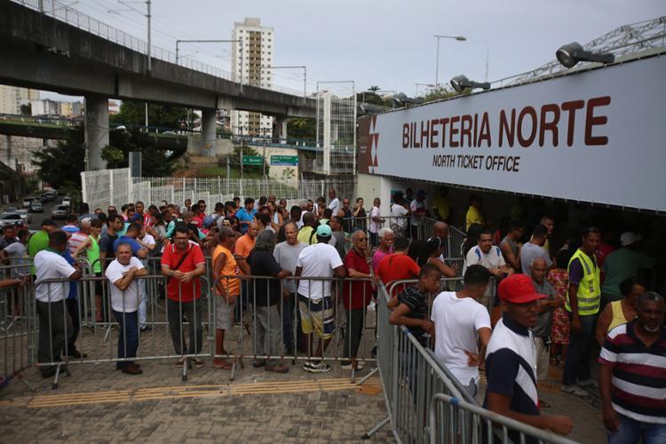 Bilheteria da Fonte Nova passa a ser opção na sexta-feira, 24 - Foto: Joá Souza l Ag. A TARDE l 10.11.2017