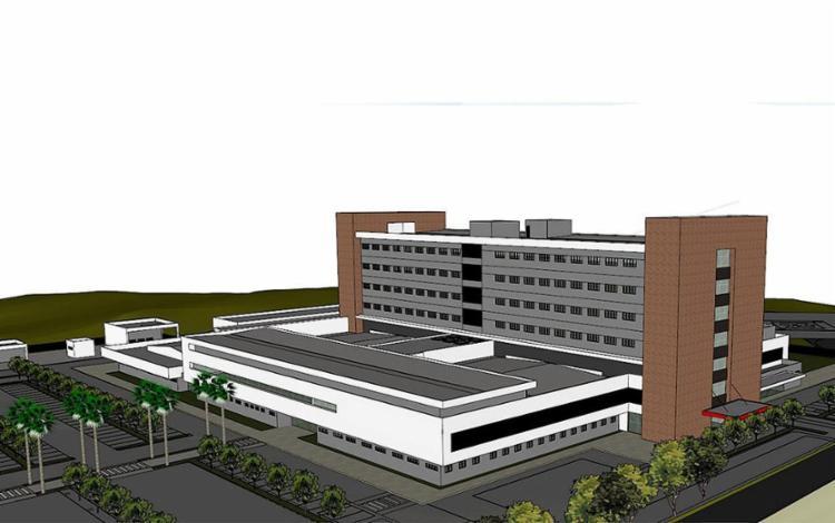 Maquete dimensiona como será nova unidade de saúde pública que oferecerá 265 leitos à população da RMS - Foto: Divulgação