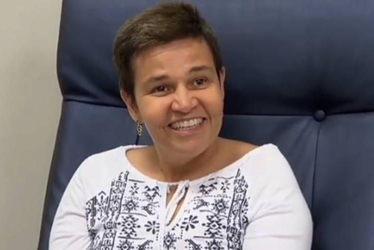 Atriz foi internada para tratar do seu quadro de esclerose múltipla - Foto: Reprodução | Rede Record