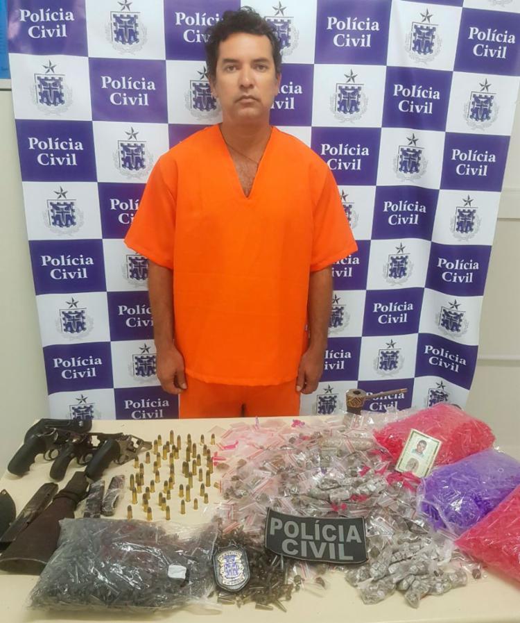 Inoan Galvão foi preso em flagrante nesta terça-feira, 21 - Foto: Divulgação   SSP-BA