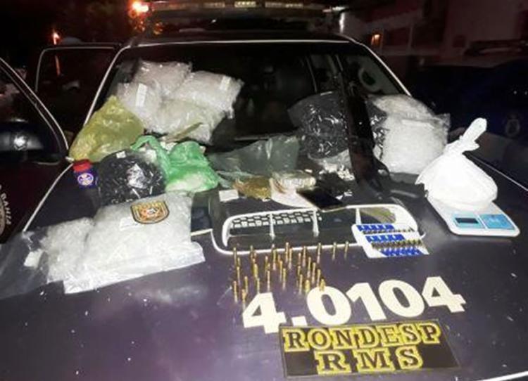 Material apreendido durante abordagem na localidade de Pitanguinha Nova - Foto: Divulgação   Polícia Militar