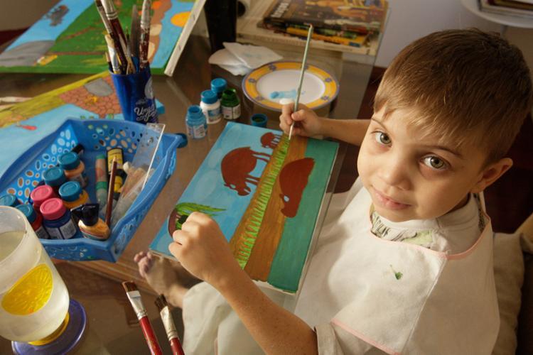 Pintura de animais é uma das preferidas de Daniel - Foto: Xando Pereira   Ag. A TARDE