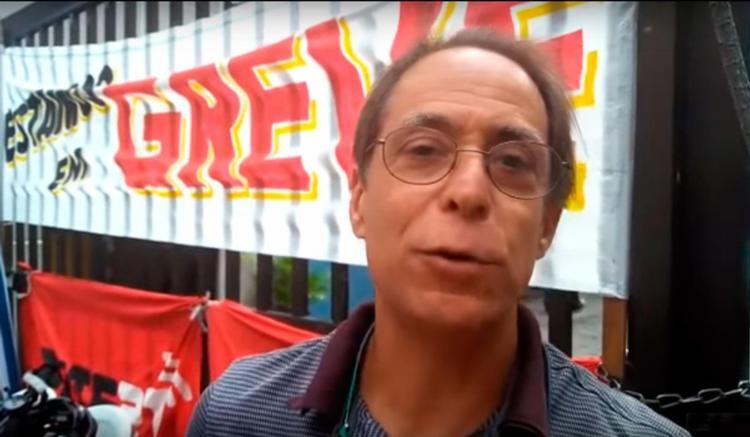Após deixar programa, Pedro Cardoso se juntou a grevistas da Empresa Brasileira de Comunicação - Foto: Reprodução | Youtube