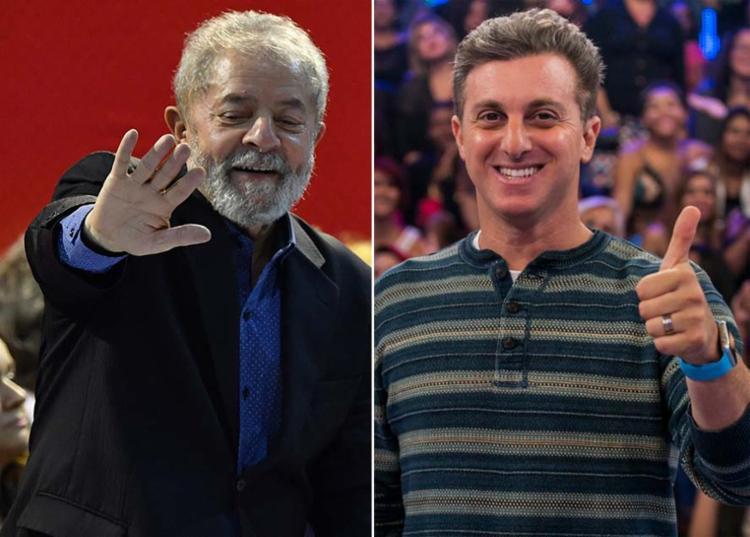 O ex-presidente provocou o apresentador de TV Luciano Huck (sem partido) - Foto: Nelson Alemida | AFP e Divulgação