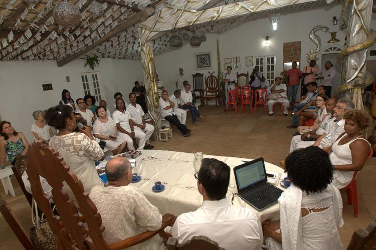 Encontro promovido pelo Ministério Público da Bahia ocorreu no Terreiro Hunkpame Savalu Vodun Zo Kwe - Foto: Margarida Neide l Ag. A TARDE