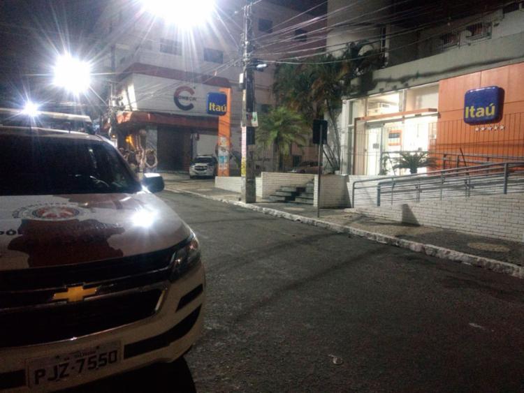 Polícia foi acionada após alarme da agência disparar - Foto: Divulgação   SSP