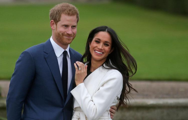 Meghan Markle e o príncipe Harry anunciaram o noivado na segunda-feira - Foto: Daniel Leal-Olivas | AFP