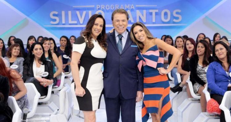 Silvia Abravanel ao lado do pai Silvio Santos e da irmã Patrícia - Foto: Divulgação | SBT