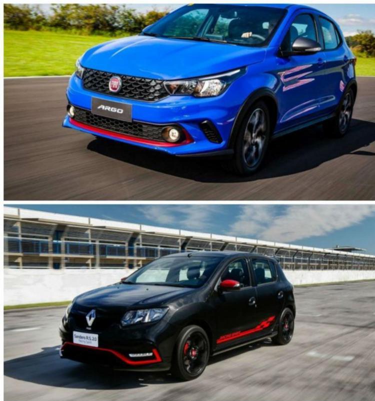 Hatches da Renault e da Fiat se enfrentam na briga dos carros temperados - Foto: Divulgação