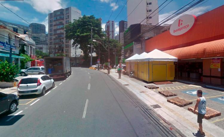 O crime aconteceu no Bompreço que fica na rua Marquês de Caravelas - Foto: Reprodução | Google Maps