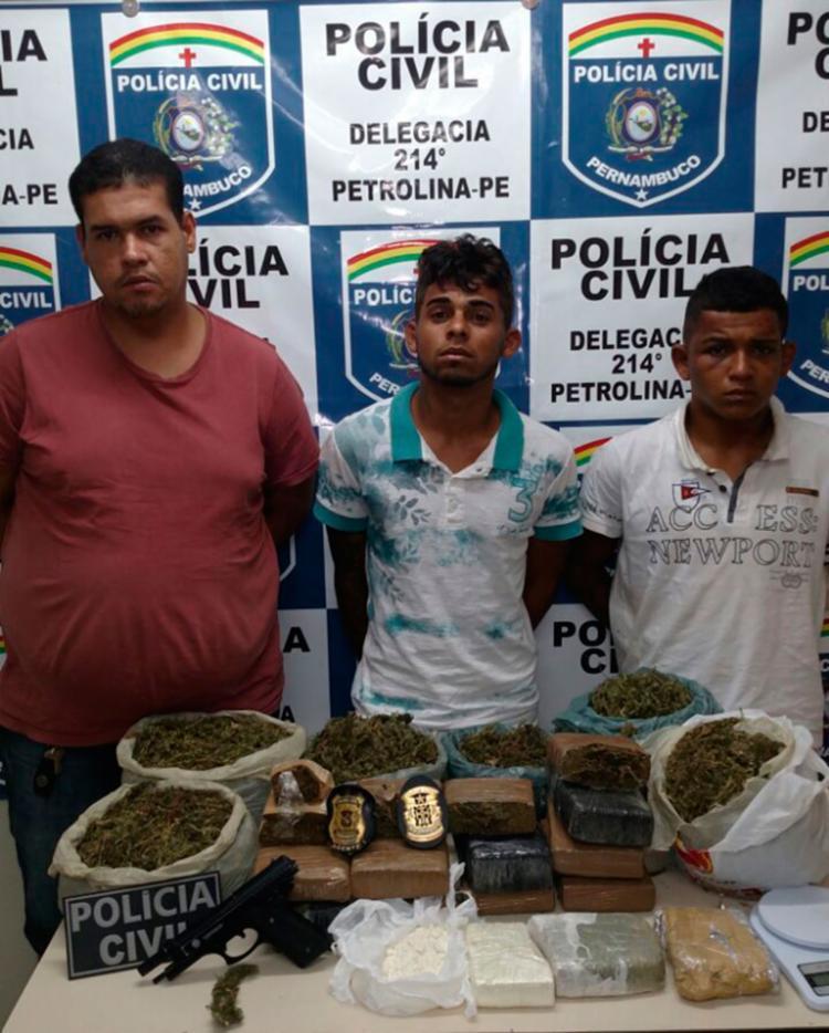 Um quarto comparsa do trio preso conseguiu fugir - Foto: SSP-BA | Divulgação