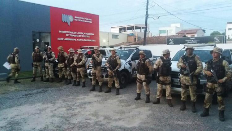 A operação acontece nos municípios baianos de Itagimirim e Teixeira de Freitas - Foto: MP-BA | Divulgação
