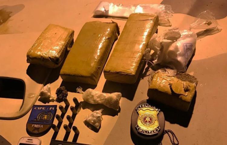 Material foi encontrado enterrado na casa do suspeito - Foto: Divulgação   SSP