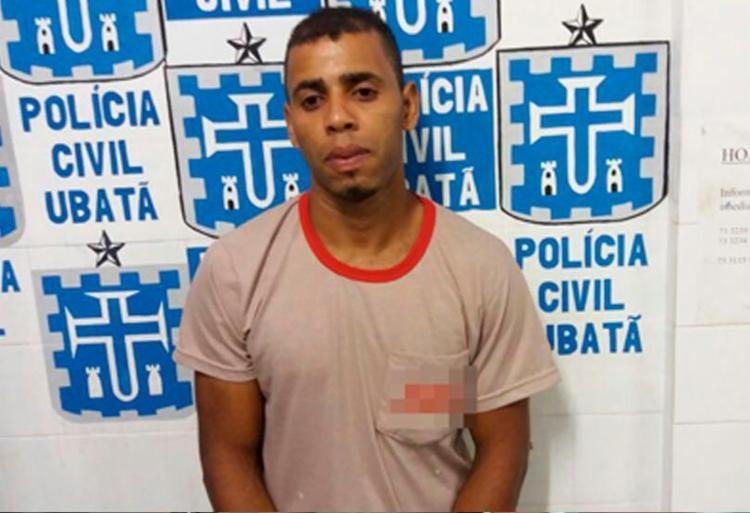 A acusado foi detido pela PM nesta quarta-feira, 29 - Foto: Reprodução | Ubatã Notícias