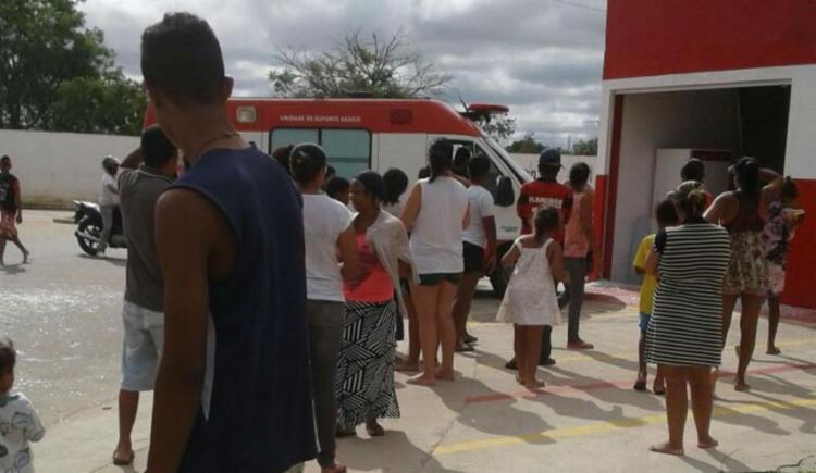 A vítima foi socorrida pelo Serviço de Atendimento Móvel de Urgência (Samu) - Foto: Reprodução | Blog do Rodrigo Ferraz