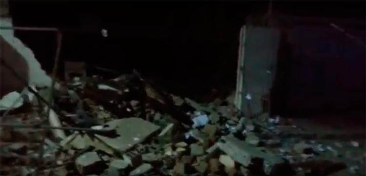 A agência bancária ficou completamente destruída - Foto: Reprodução