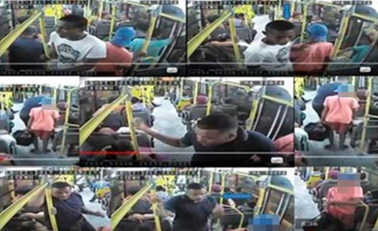Imagens das câmeras de segurança do ônibus flagraram suspeitos durante assalto - Foto: Divulgação | SSP-BA