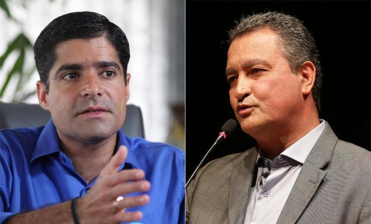 Distância diminui entre os dois chefes do Executivo, mas Neto segue na liderança - Foto: Raul Spinasée l Ag. A TARDE l 22.09.2016 e Adilton Venegeroles l Ag. A TARDE l 04.04.2017