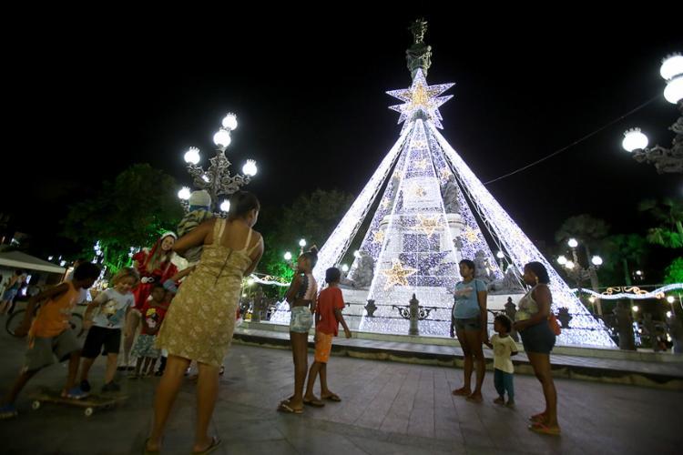 Campo Grande recebeu luzes especiais - Foto: Joá Souza l Ag. A TARDE