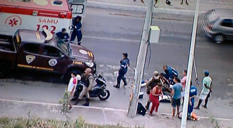 As vítimas estão sendo atendidas pelo Samu - Foto: Reprodução | TV Record