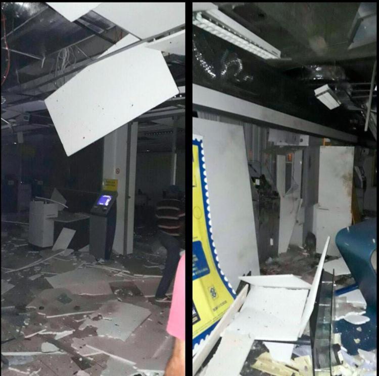 Agência ficou completamente destruída - Foto: Reprodução | Site Augusto Urgente