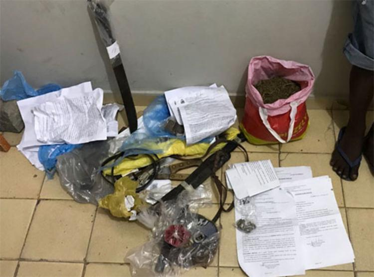 Material furtado foi recuperado com dupla - Foto: Reprodução   Site Notícias de Santaluz
