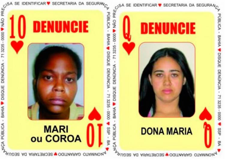10 de Copas e Dama de Copas são foragidas da polícia - Foto: Divulgação | SSP