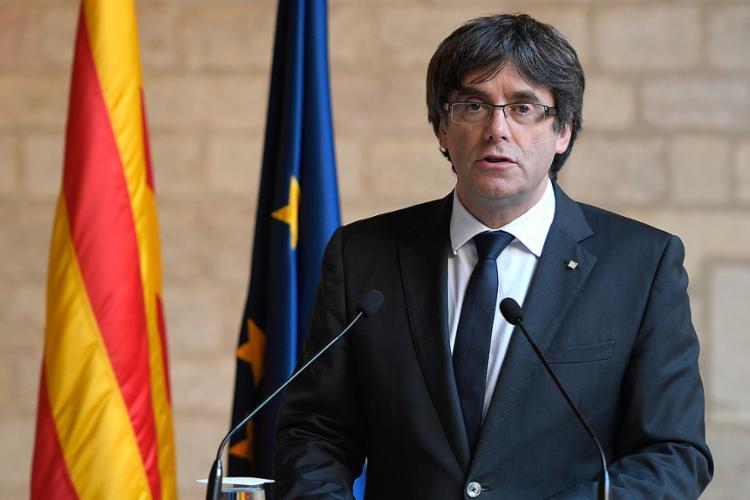 Espanha quer capturar o governador deposto da Catalunha Carles Puigdemont, que se refugiou na Bélgica - Foto: Lluis Gene l AFP