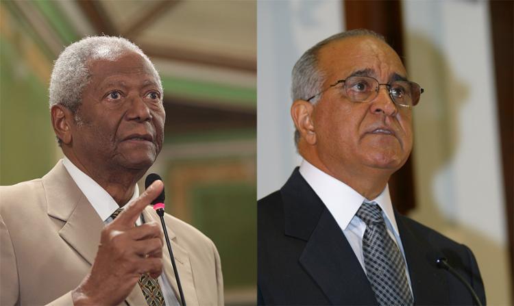 Edvaldo Brito e Paulo Souto trocam provocações - Foto: Joá Souza l Ag. A TARDE l 12.7.2017 e Carlos Casaes l Ag. A TARDE l 1.1.2003