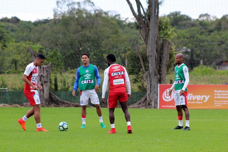 Elenco Tricolor treinou nesta terça-feira, 7, no CT do Figueirense, em Florianópolis - Foto: Felipe Santana l EC Bahia